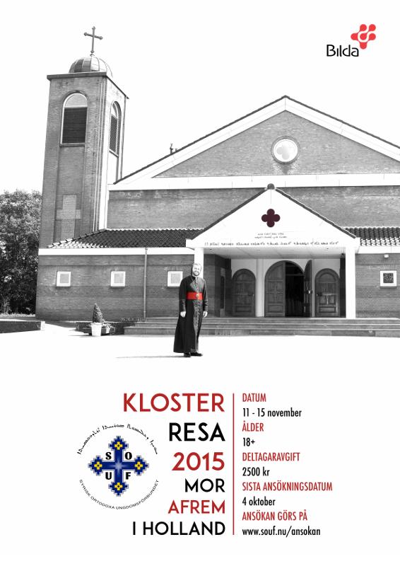 Affisch till SOUF:s klosterresa 2015